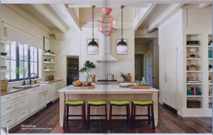 kitchen-cabinets-in-Atlanta-Georgia-cream-kitchen-blush-island-lime-seat cushions